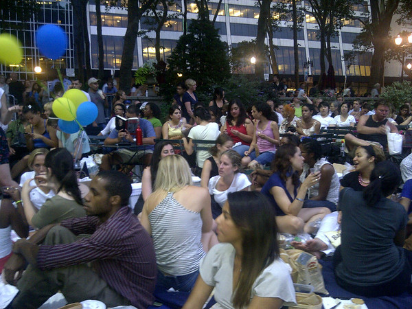 NYC Emory Movie Night Bryant Park 7.11.11